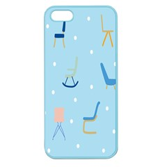 Seat Blue Polka Dot Apple Seamless iPhone 5 Case (Color)