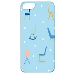 Seat Blue Polka Dot Apple iPhone 5 Classic Hardshell Case