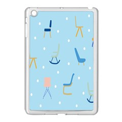 Seat Blue Polka Dot Apple iPad Mini Case (White)