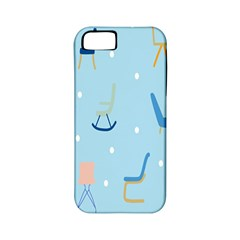 Seat Blue Polka Dot Apple iPhone 5 Classic Hardshell Case (PC+Silicone)