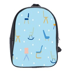 Seat Blue Polka Dot School Bags (XL)