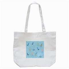 Seat Blue Polka Dot Tote Bag (White)