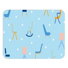 Seat Blue Polka Dot Double Sided Flano Blanket (Large)