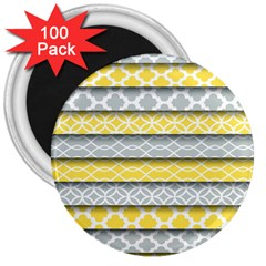 Paper Yellow Grey Digital 3  Magnets (100 pack)