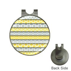 Paper Yellow Grey Digital Hat Clips with Golf Markers