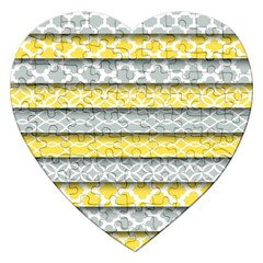 Paper Yellow Grey Digital Jigsaw Puzzle (Heart)