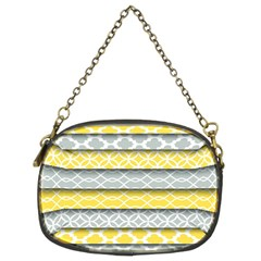 Paper Yellow Grey Digital Chain Purses (Two Sides)