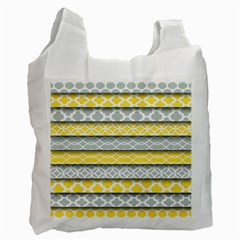 Paper Yellow Grey Digital Recycle Bag (Two Side)