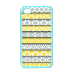 Paper Yellow Grey Digital Apple iPhone 4 Case (Color)