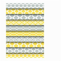 Paper Yellow Grey Digital Small Garden Flag (Two Sides)