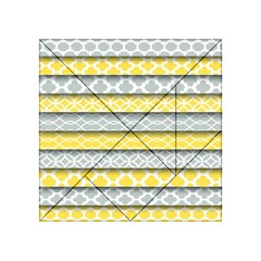 Paper Yellow Grey Digital Acrylic Tangram Puzzle (4  x 4 )
