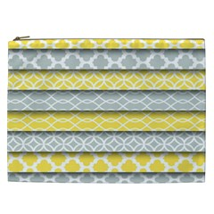 Paper Yellow Grey Digital Cosmetic Bag (XXL)