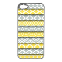 Paper Yellow Grey Digital Apple iPhone 5 Case (Silver)