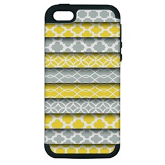 Paper Yellow Grey Digital Apple iPhone 5 Hardshell Case (PC+Silicone)