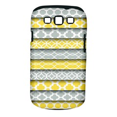 Paper Yellow Grey Digital Samsung Galaxy S III Classic Hardshell Case (PC+Silicone)