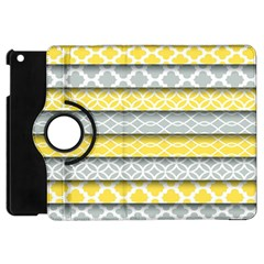 Paper Yellow Grey Digital Apple iPad Mini Flip 360 Case