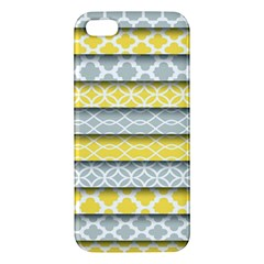 Paper Yellow Grey Digital Apple iPhone 5 Premium Hardshell Case