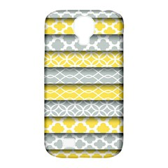 Paper Yellow Grey Digital Samsung Galaxy S4 Classic Hardshell Case (PC+Silicone)