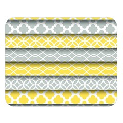 Paper Yellow Grey Digital Double Sided Flano Blanket (Large)