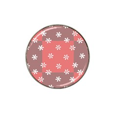 Seed Life Seamless Remix Flower Floral Red White Hat Clip Ball Marker