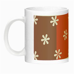 Seed Life Seamless Remix Flower Floral Red White Night Luminous Mugs
