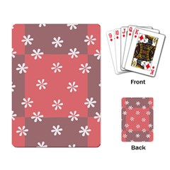 Seed Life Seamless Remix Flower Floral Red White Playing Card