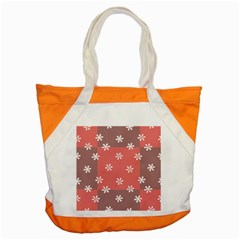 Seed Life Seamless Remix Flower Floral Red White Accent Tote Bag