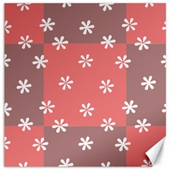 Seed Life Seamless Remix Flower Floral Red White Canvas 16  x 16