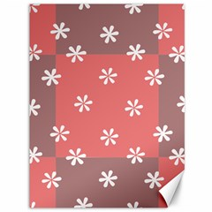 Seed Life Seamless Remix Flower Floral Red White Canvas 36  x 48