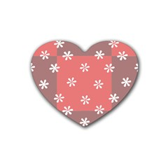 Seed Life Seamless Remix Flower Floral Red White Heart Coaster (4 pack)