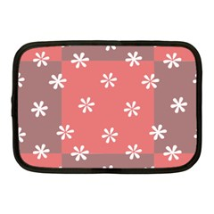 Seed Life Seamless Remix Flower Floral Red White Netbook Case (Medium)