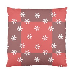 Seed Life Seamless Remix Flower Floral Red White Standard Cushion Case (Two Sides)
