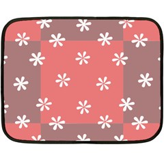 Seed Life Seamless Remix Flower Floral Red White Double Sided Fleece Blanket (Mini)