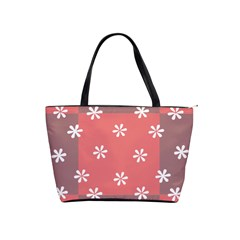 Seed Life Seamless Remix Flower Floral Red White Shoulder Handbags