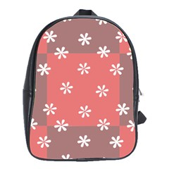 Seed Life Seamless Remix Flower Floral Red White School Bags(Large)