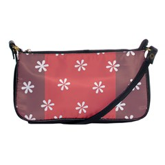 Seed Life Seamless Remix Flower Floral Red White Shoulder Clutch Bags