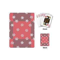Seed Life Seamless Remix Flower Floral Red White Playing Cards (Mini)