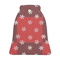 Seed Life Seamless Remix Flower Floral Red White Ornament (Bell)