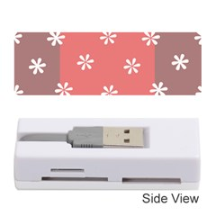 Seed Life Seamless Remix Flower Floral Red White Memory Card Reader (Stick)