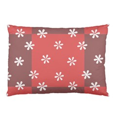 Seed Life Seamless Remix Flower Floral Red White Pillow Case (Two Sides)
