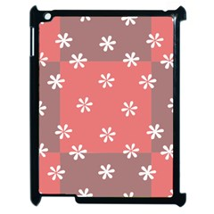 Seed Life Seamless Remix Flower Floral Red White Apple iPad 2 Case (Black)