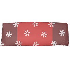 Seed Life Seamless Remix Flower Floral Red White Body Pillow Case (Dakimakura)