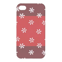 Seed Life Seamless Remix Flower Floral Red White Apple iPhone 4/4S Premium Hardshell Case