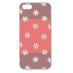 Seed Life Seamless Remix Flower Floral Red White Apple Seamless iPhone 5 Case (Clear)