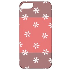 Seed Life Seamless Remix Flower Floral Red White Apple iPhone 5 Classic Hardshell Case