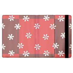 Seed Life Seamless Remix Flower Floral Red White Apple iPad 3/4 Flip Case