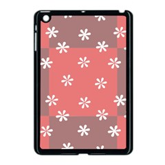 Seed Life Seamless Remix Flower Floral Red White Apple iPad Mini Case (Black)