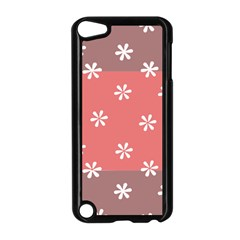 Seed Life Seamless Remix Flower Floral Red White Apple iPod Touch 5 Case (Black)