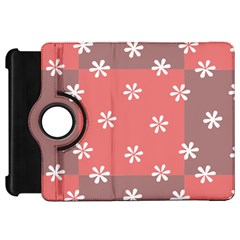 Seed Life Seamless Remix Flower Floral Red White Kindle Fire HD 7