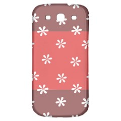 Seed Life Seamless Remix Flower Floral Red White Samsung Galaxy S3 S III Classic Hardshell Back Case
